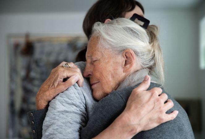 Senior mother and daughter huggingjpglarge